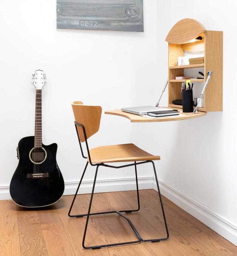 This Foldable Wall Desk Is Ideal For Small Spaces Desks For