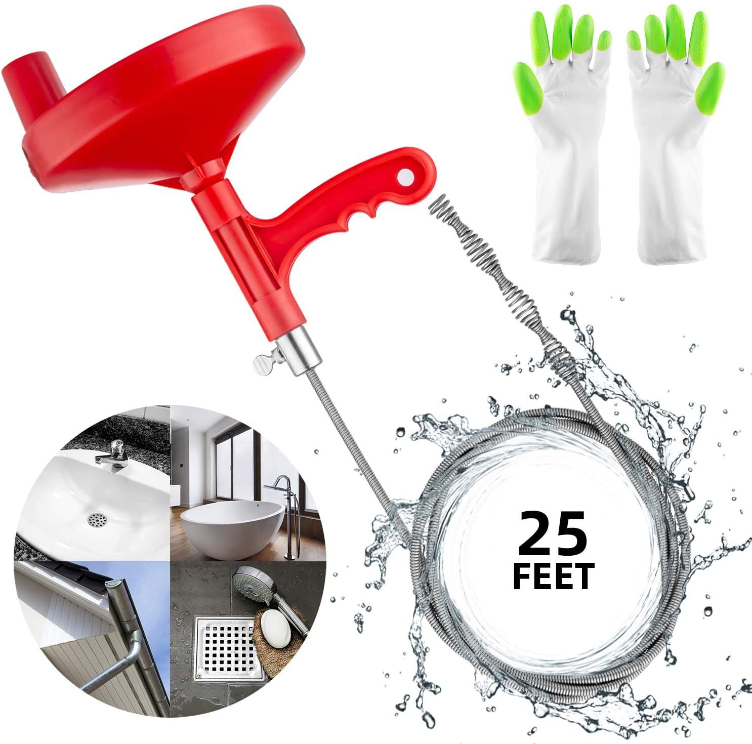 Great for unclogging sinks on your own! The instruction