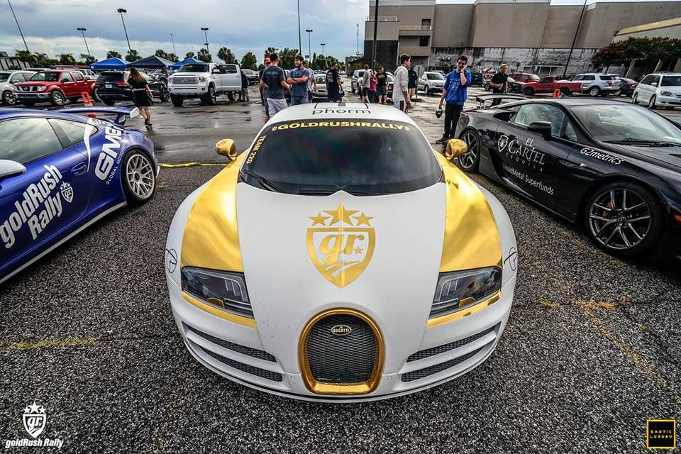 Gold and White Bugatti...