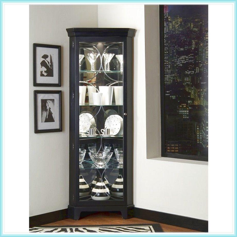 Small Black Corner Curio Cabinet | Corner curio, Curio ...