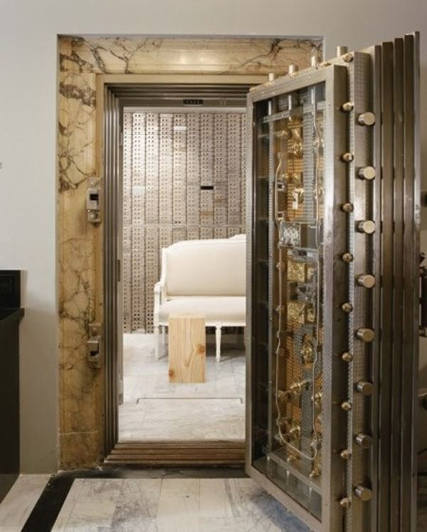 EMPTY SPACE - FEELING OF SECURITY: DEF: A space that feels secure or safe.  WHY: Well, the door is a vault door. that kind of explains it.
