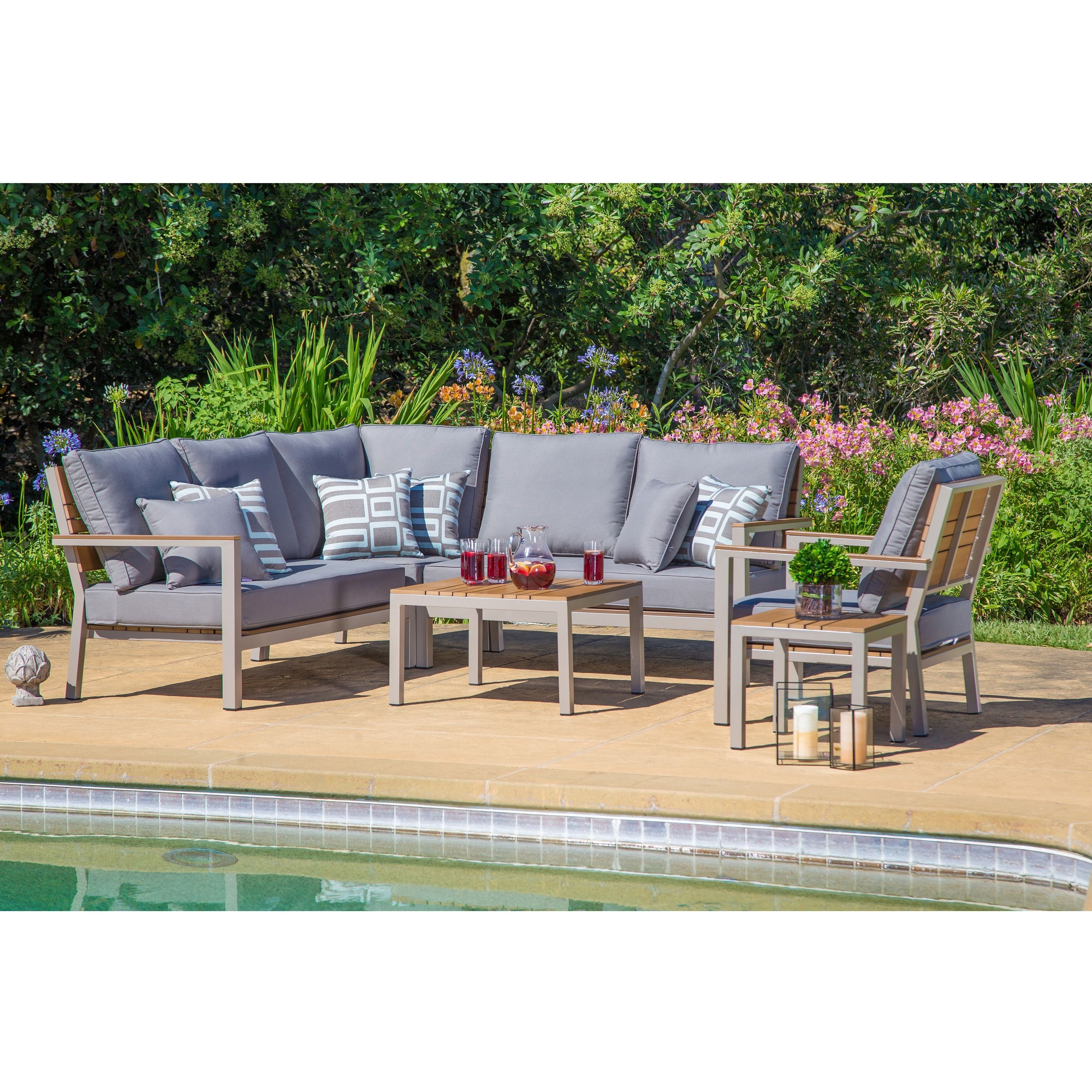 Corvus Jasmine Heavy Duty Aluminum Outdoor Deep Seating Set With Sunbrella  Fabric Cushions   Overstock Shopping   Big Discounts On Corvus Sofas, ...