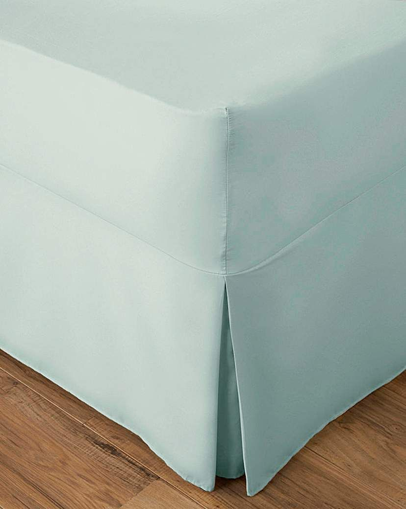 Jd Williams Easy Care Plain Dye Fitted Valance Sheet Duck Egg In 2021 Easy Care Valance Sheet