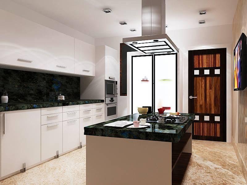 Big Kitchen With A Backsplash And Marble Tiling Modern Kitchen Design With Island Backsp Chimney Design Installing Kitchen Countertops Appliances Design