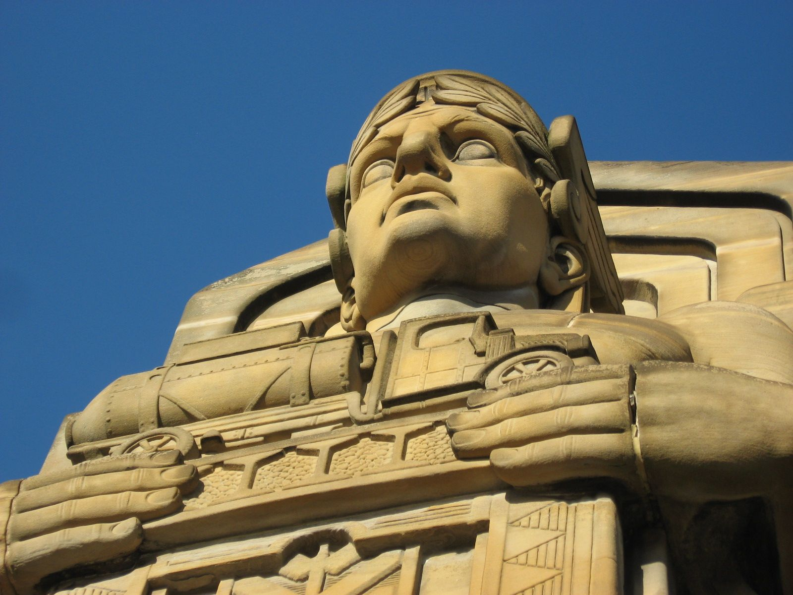 One Of The Eight Grand Guardians Of Traffic On The Lorain Carnegie Bridge In Cleveland They Were Designed By Sc Art Deco Accents Art Deco Architecture Ohio