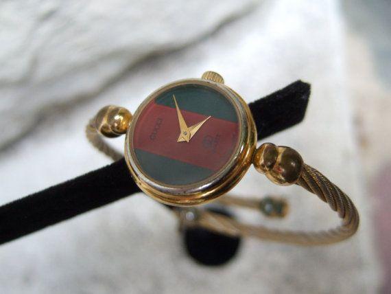 6c3d1890e21 GUCCI Vintage Womens Wrist Watch c 1970s by worldmarketproductio ...