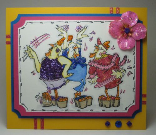 SHAKE YOUR BOOTIE CHICKENS Click on picture & it will take you into this listing in my Ebay Store. Made by Art Impressions Rubber Stamps. Can be purchased in a Set or individually. The Items can be purchased in my ebay Store Pat's Rubber Stamps & Scrapbooks or call me 423-357-4334 with order, or come by 1327 Glenmar Ave. Mt Carmel, TN 37645, . We take PayPal. You get free shipping with the phone orders of $30.00 or more