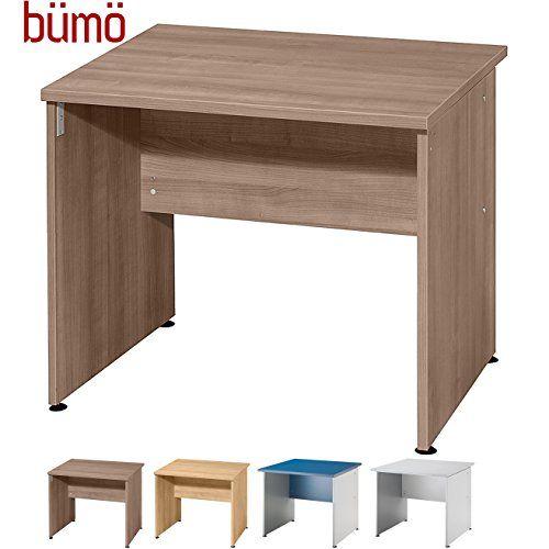 Bümö® Schreibtisch für das Büro | Bürotisch in 4 Farben & 3 Längen ...