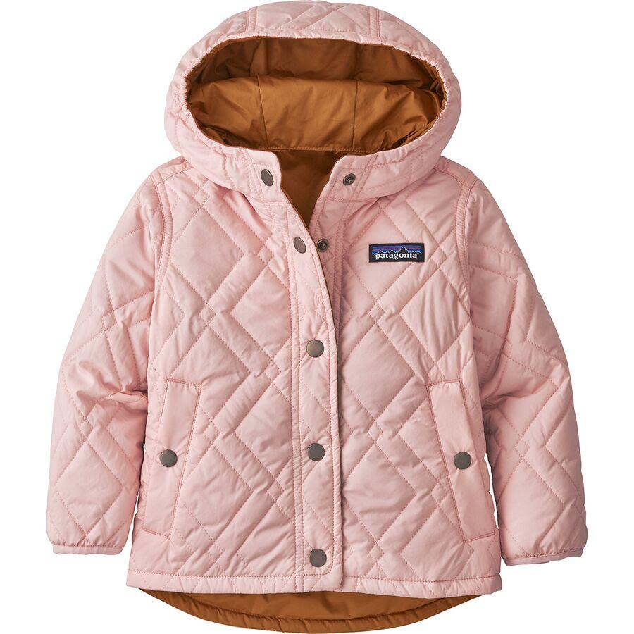 Reversible Diamond Quilt Hooded Jacket Infant Girls Jackets Toddler Girl Jackets Kids Outerwear [ 900 x 900 Pixel ]