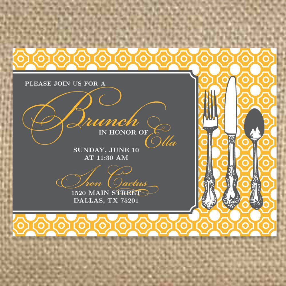Brunch Invitation Template  Elise Th Birthday