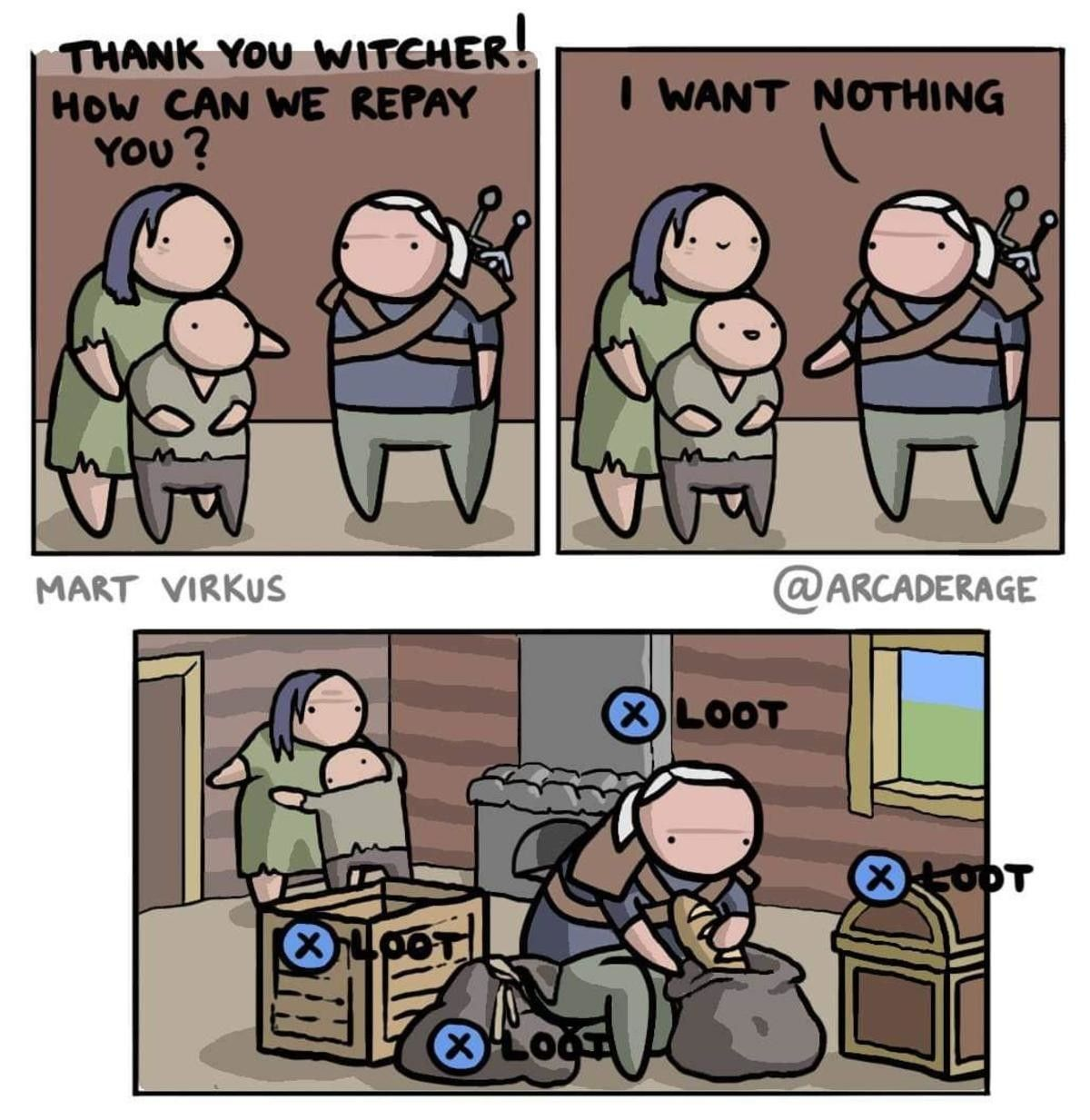 Loooot Posted by u/DjSzymek The witcher, Funny memes