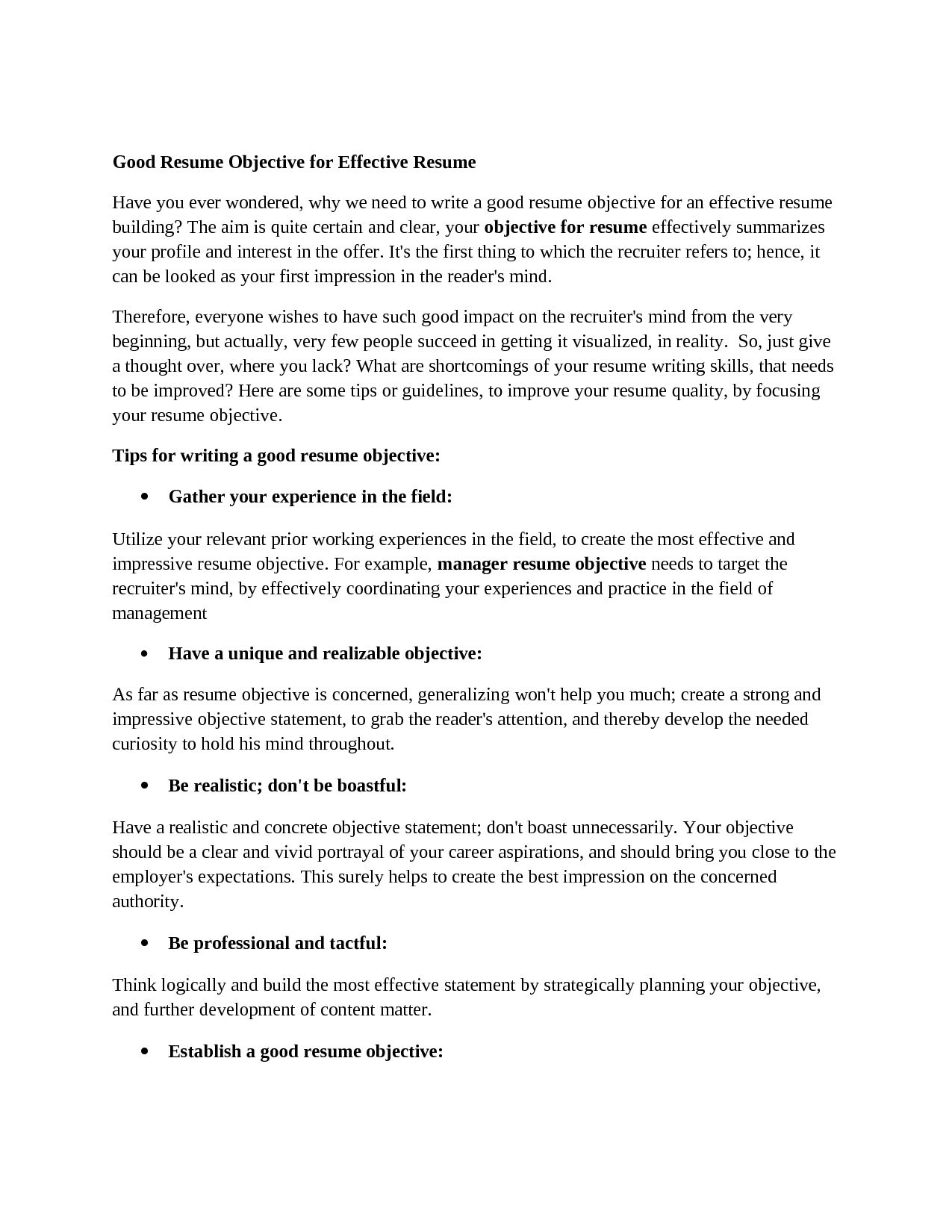 A Good Objective For Resume Dissertation Writing A Research Journeyguidelines For Writing
