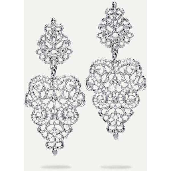 Silver Hollow Drop Earrings ($3.99) ❤ liked on Polyvore featuring jewelry, earrings, silver, silver drop earrings, drop dangle earrings, silver earrings, dangling jewelry and drop earrings