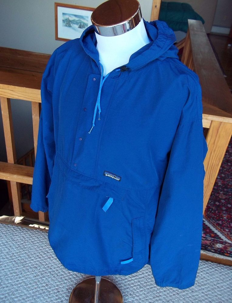 PATAGONIA Men's Vintage Pullover Rain Jacket Windbreaker Blue ...