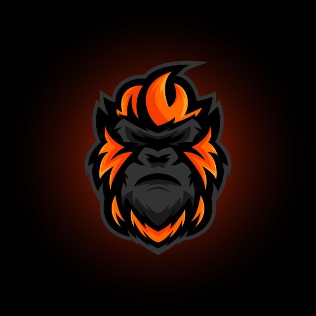 Gorilla Head E Sport Logo Gaming Mascot Ilustrasi Vektor Ilustrasi Rusa