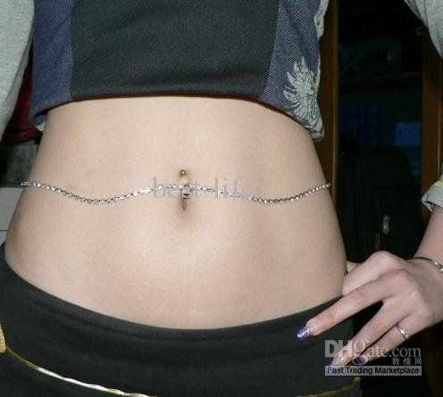 belly piercing jewelry chain - Google Search