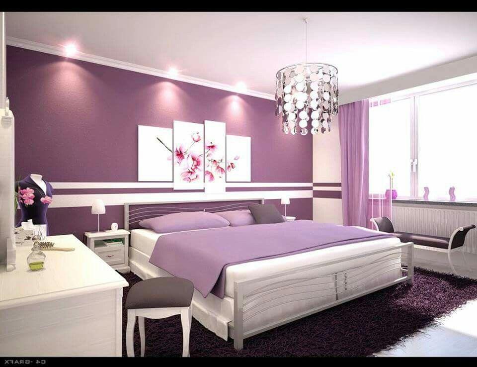 Romantic Purple Master Bedroom Ideas Purple Bedroom Design Bedroom Interior Woman Bedroom