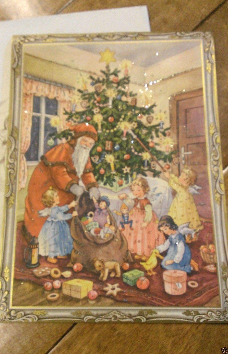 Vintage Western Germany Christmas Advent Calendar German Santa Tree No 27 | eBay