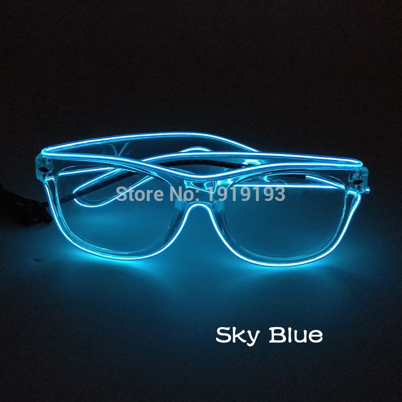 Music Sensitive Led Strip Transparent Frame Twinkling Glasses ...