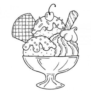 graphic regarding Ice Cream Coloring Pages Printable titled yummy-ice-product-sundae-coloring-webpages-for-small children Ice product