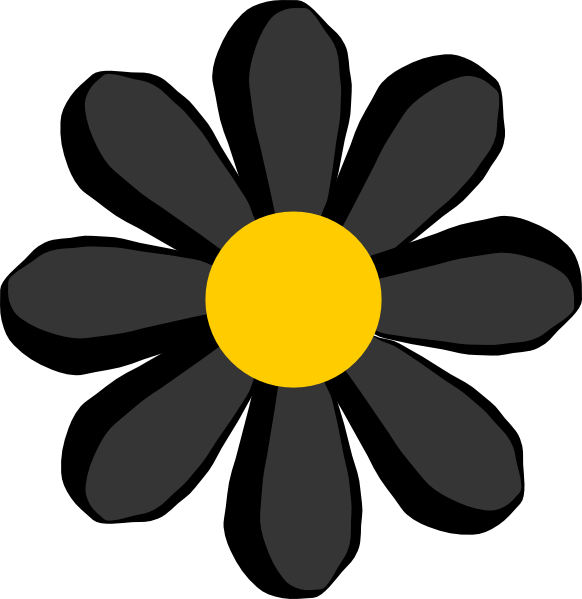 black flower png | Black Flower clip art - vector clip art online ...
