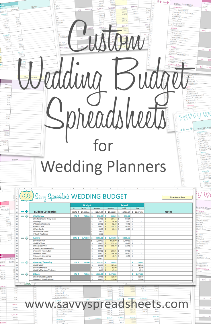 Branded Wedding Budgets | Wedding budget spreadsheet, Budgeting ...
