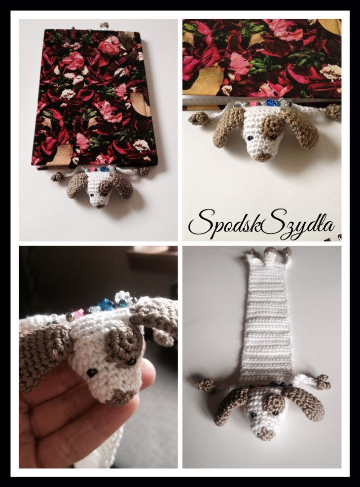 Crochet dog bookmark | Haken en breien | Pinterest | Señaladores ...