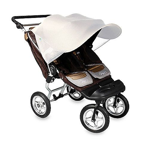 This universal sunshade fits all double strollers joggers and car seats with a canopy. It is rated UPF the highest rating possible for ultraviolet sun ...  sc 1 st  Pinterest & This universal sunshade fits all double strollers joggers and ...