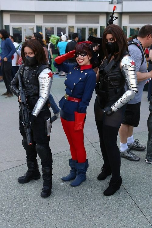 Three Bucky Barnes Cosplayers In A Row Whothehellisbucky