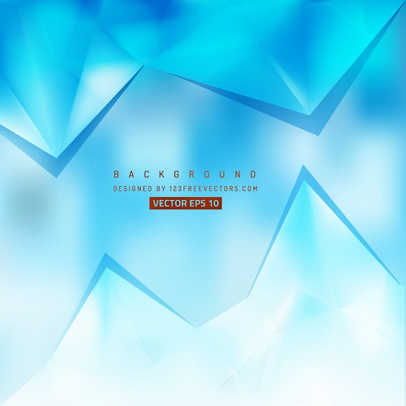 Abstract Light Blue Triangle Polygonal Background Free