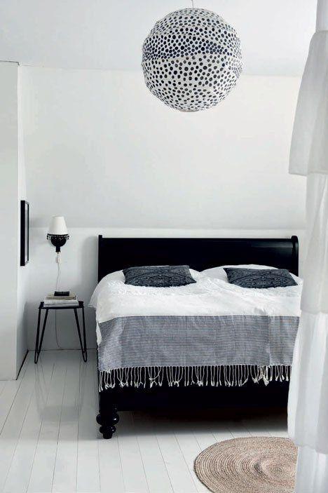 Une Maison De Campagne En Noir Et Blanc Deco Chambre Decoration