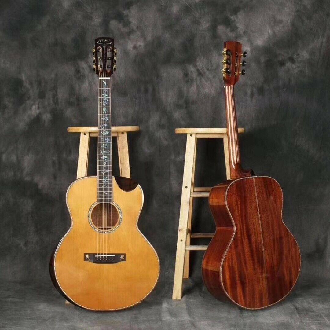 Zero Full Solid Wood Acoustic Guitar 41 Inch Acoustic Electric Guitar Acoustic Electric Guitar Beautiful Guitars Electric Guitar Price