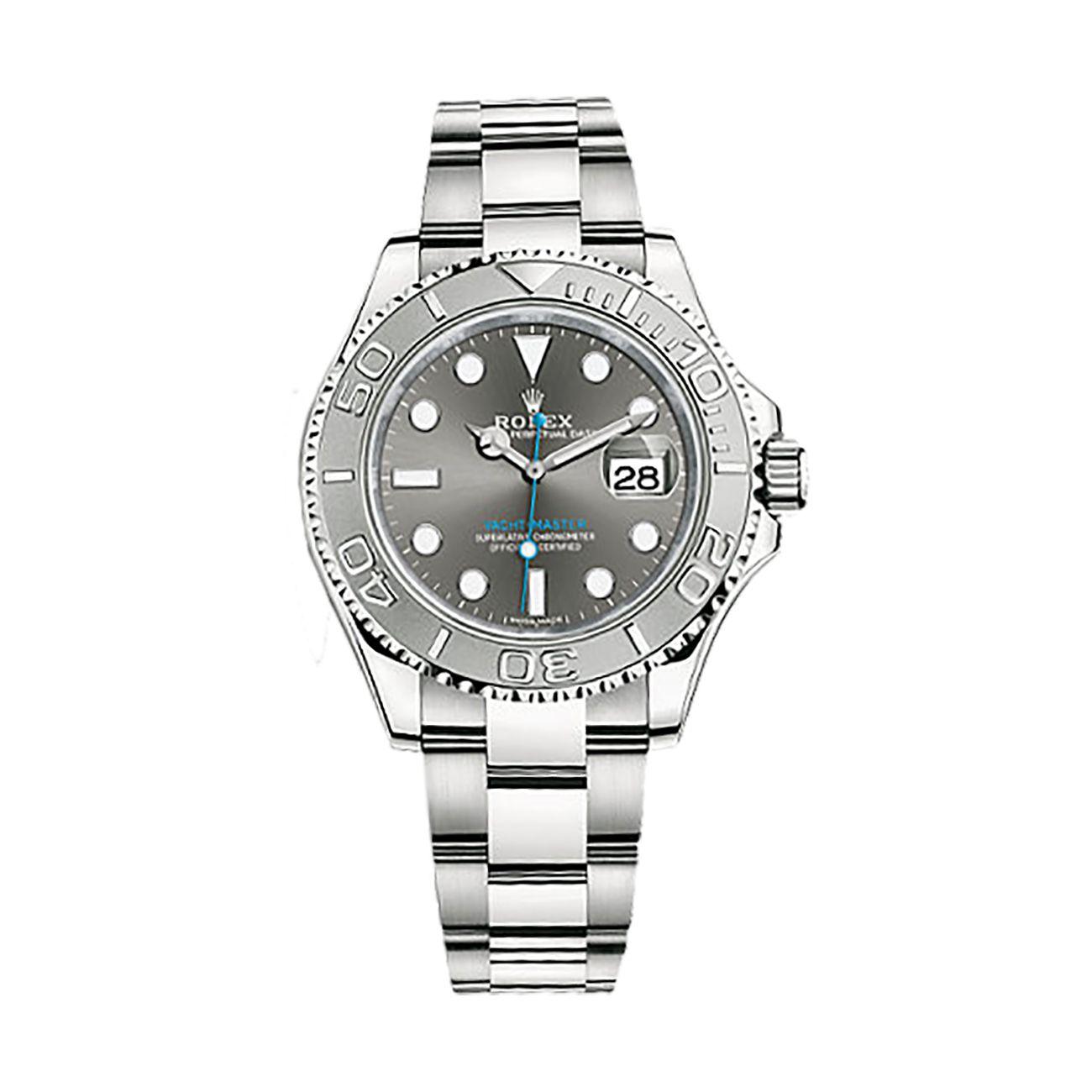 a3d8f95fda9 Rolex Yacht-Master 40 116622 Platinum   Stainless Steel Watch (Dark Rhodium)