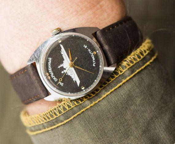 Vintage watch Raketa/ PLYMOUTH91  Soviet men's watch by SovietEra, $75.00