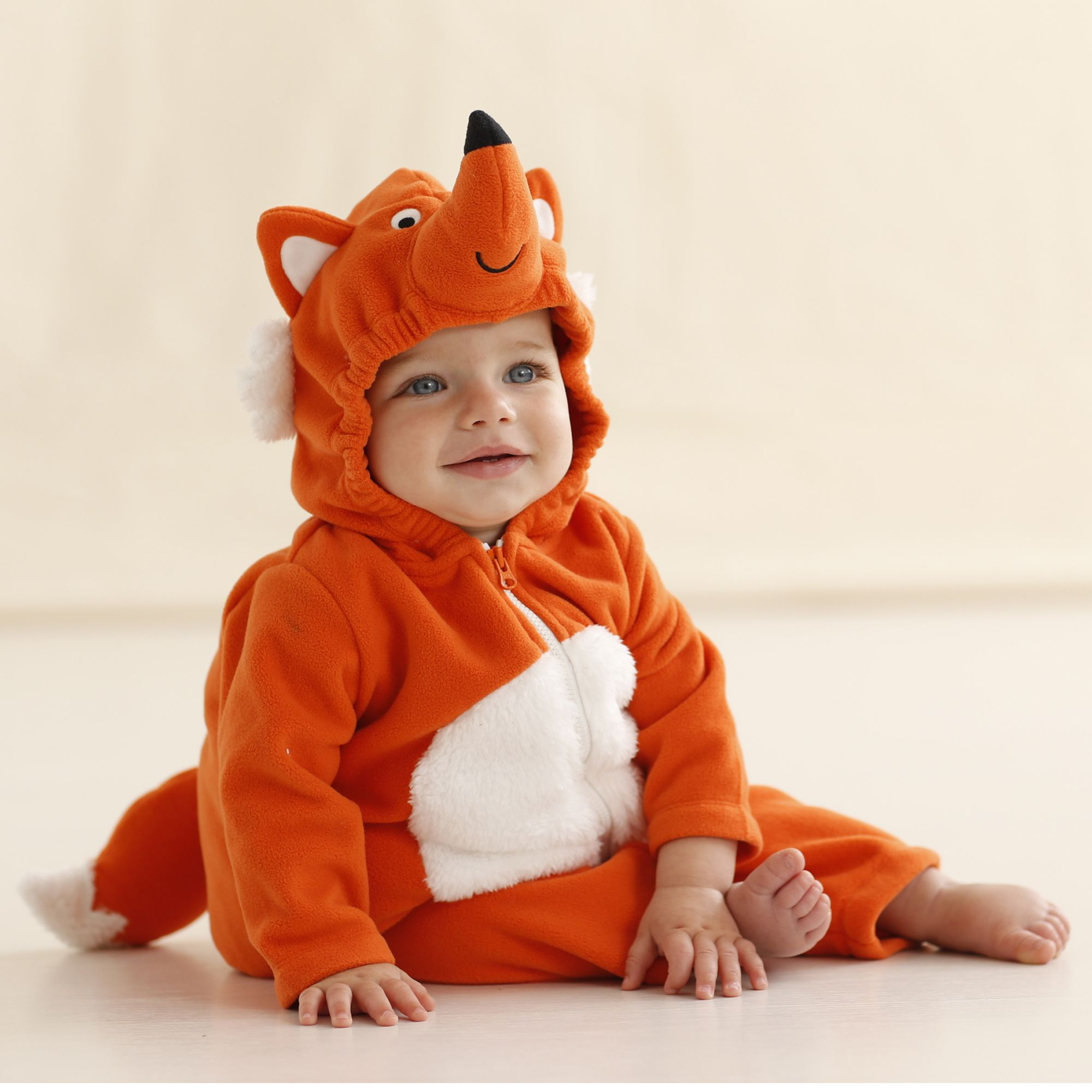 65afadd41 Fox costume for baby. Add another tail and large white gloves and you have  a Tails costume (from Sonic the Hedgehog).