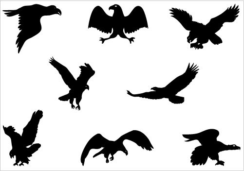 Flying Eagle Silhouette Vector Graphics Clipart Best Clipart Best Animal Silhouette Eagle Silhouette Silhouette Vector