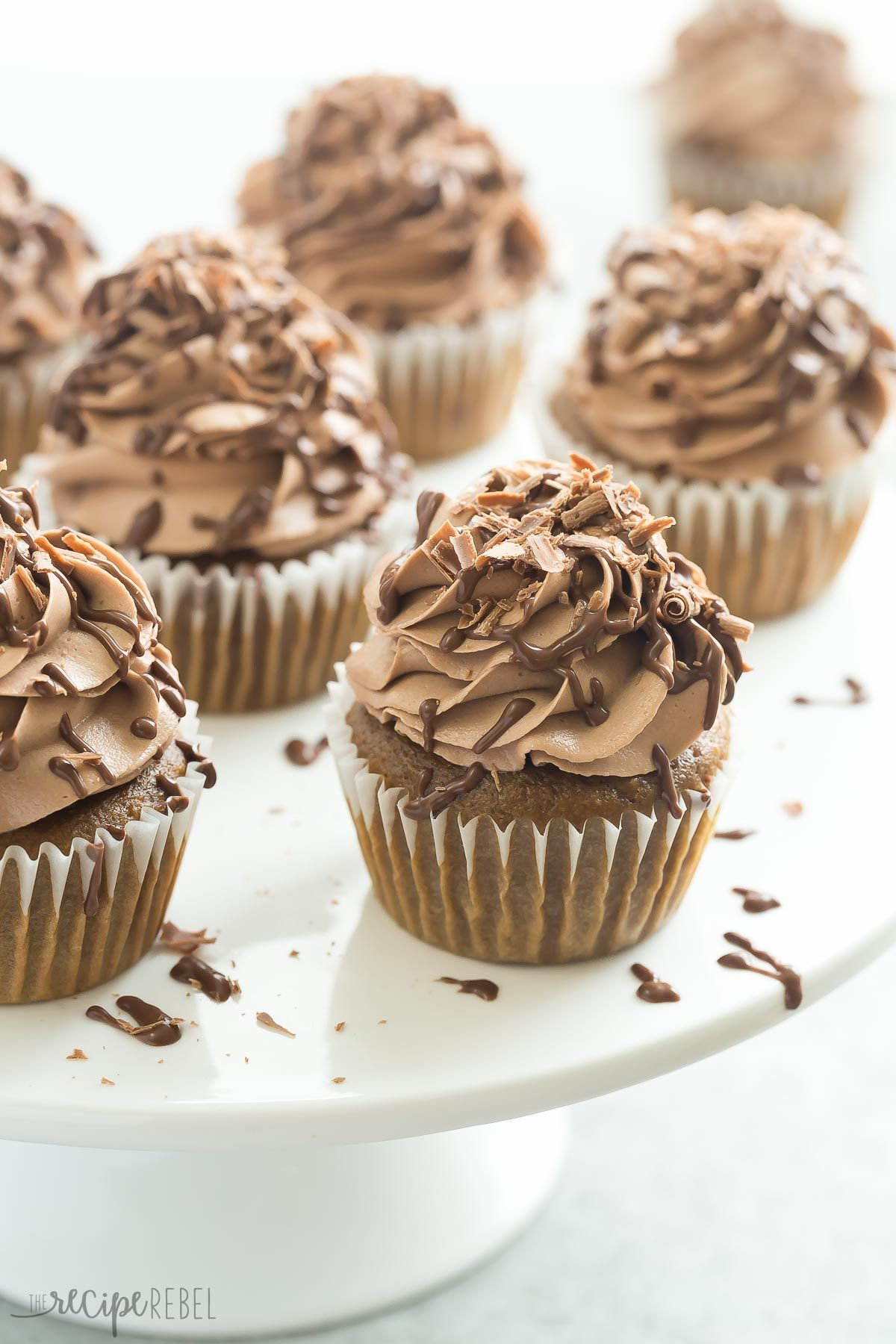 These Mocha Nutella Cupcakes are the perfect way to get