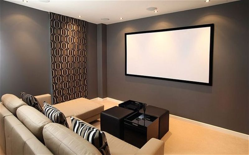 43 Simple And Elegant Home Cinema Decor Ideas | Men Cave