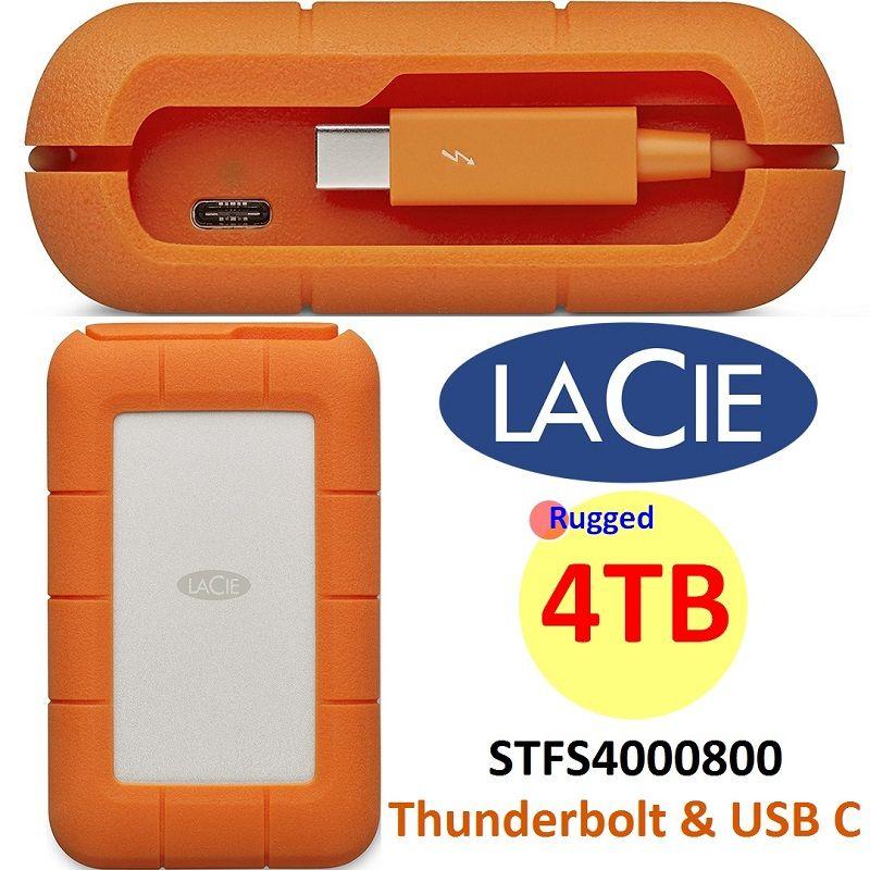 Lacie 4tb Rugged Thunderbolt Usbc Portable Hdd Stfs4000800 Personal Computer Center Portable Hard Drives Hdd Thunderbolt