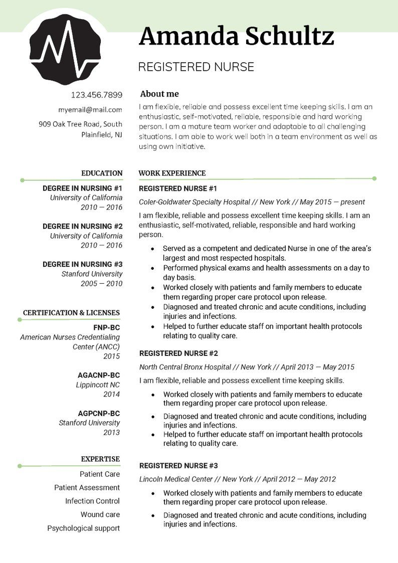 Resume Template Professional Resume Template Creative Resume Template Modern R Nursing Resume Template Downloadable Resume Template Resume Template Examples