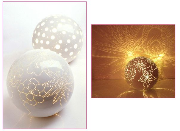 'Moonstruck' hand made table lamps by Feinedinge, Vienna