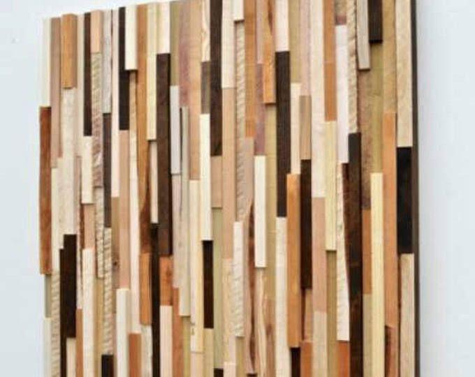 Rustic Wood Wall Art Sculpture Installation