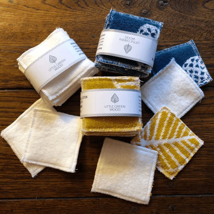Reusable Face Wipes Handmade from Hemp and Organic Cotton
