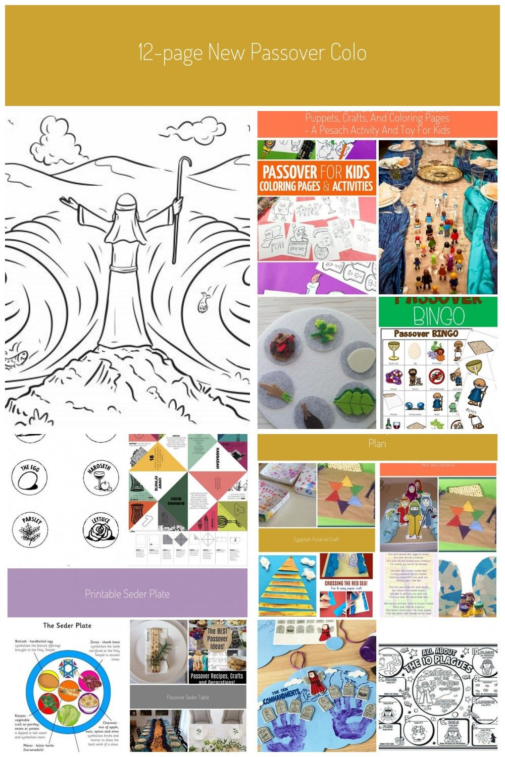 12 Page New Passover Coloring Book Printables Jewish Kidssome Fun Passover Pesach Coloring Pages And Activities To Keep The Kids Busy While You Prepare For The