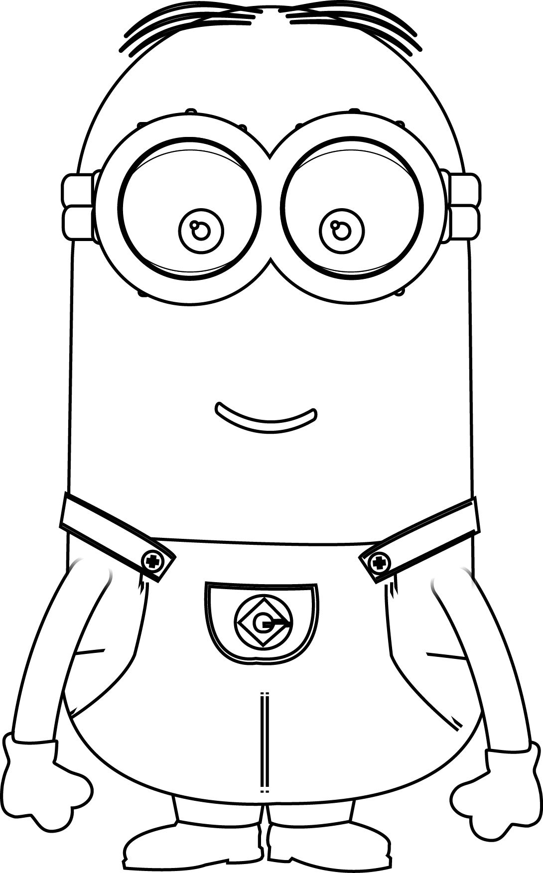 On online coloring minion - Minions Kevin Perfect Coloring Page Wecoloringpage More