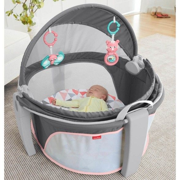 Fisher-Price On-The-Go Girl Baby Dome - Charcoal   Baby ...