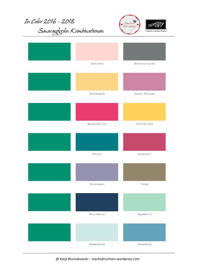 farbenkombinationen in color 2016 2018 stampin up farbkombis pinterest. Black Bedroom Furniture Sets. Home Design Ideas