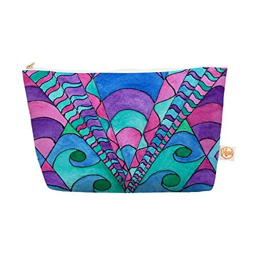"""Kess InHouse Everything Bag, Tapered Pouch, Rosie Brown """"Gatsby Inspired"""" Blue Pink, 8.5 x 4 Inches (RB1035AEP03) Kess InHouse http://www.amazon.com/dp/B00X89RKPI/ref=cm_sw_r_pi_dp_-nxvvb09XEH45"""