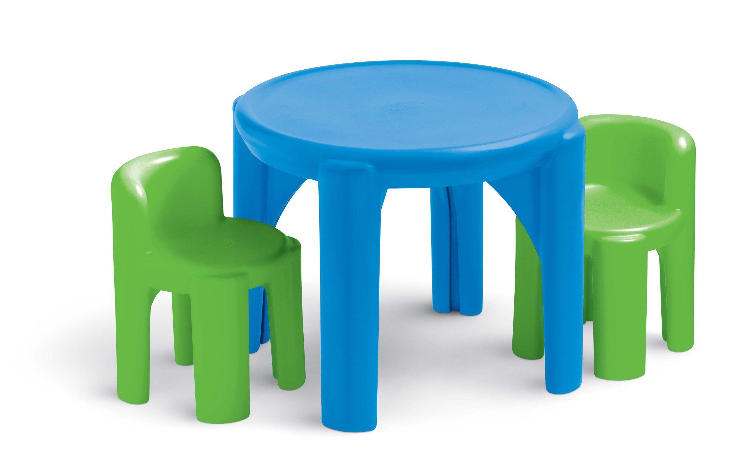 Tremendous Amazon Com Little Tikes Bold N Bright Table And Chairs Set Machost Co Dining Chair Design Ideas Machostcouk