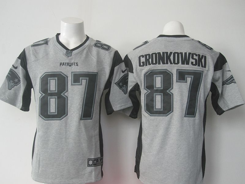 Men s New England Patriots Rob Gronkowski Nike Gray Gridiron Gray Limited  Jersey e0870bbff